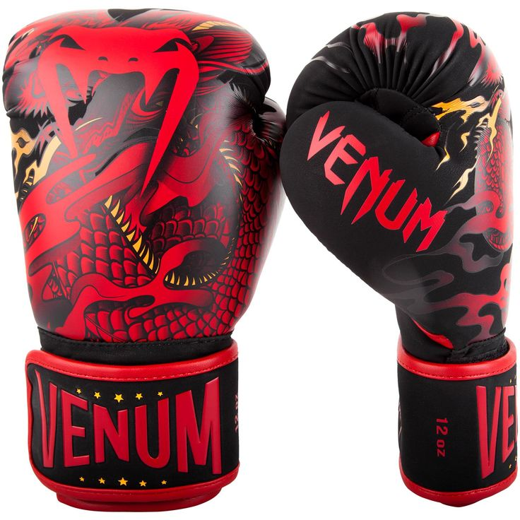 Venum Dragon's Flight Boxing Gloves - Black/Red