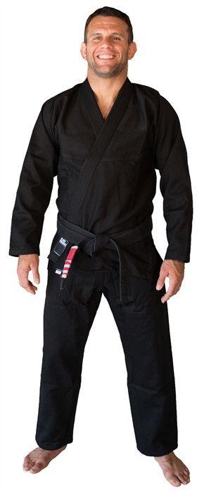 Jiu-Jitsu Gi - Blank Sunrise Fightwear Black White and Blue