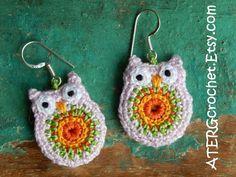 OWL EARRINGS by ATERGcrochet