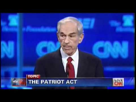 Ron Paul on The Patriot Act. Gop make excuses for Bush and libterds make excuses for Obama.  Both men(sides) violate the Constitution. Ditch the two party system for Liberty!!