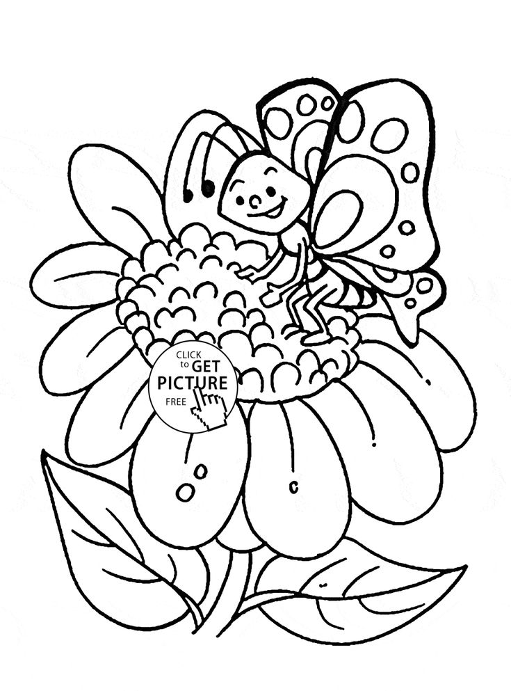 30 best Flower Coloring Pages images