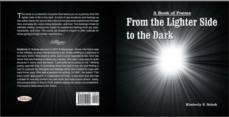 From the lighter side to the dark. Poetry from beyond. About love, loss and everyday life from light to dark.