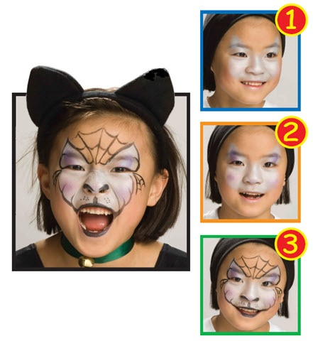 Snazaroo™ Face Painting: Cat #halloween #facepainting