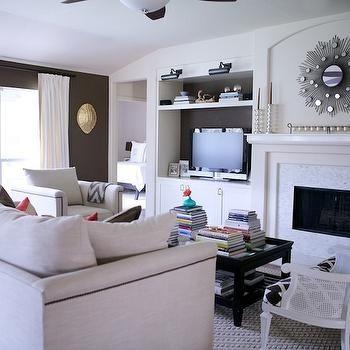 Built In Media Cabinet, Transitional, living room, Behr Aging Barrel, Paloma Contreras