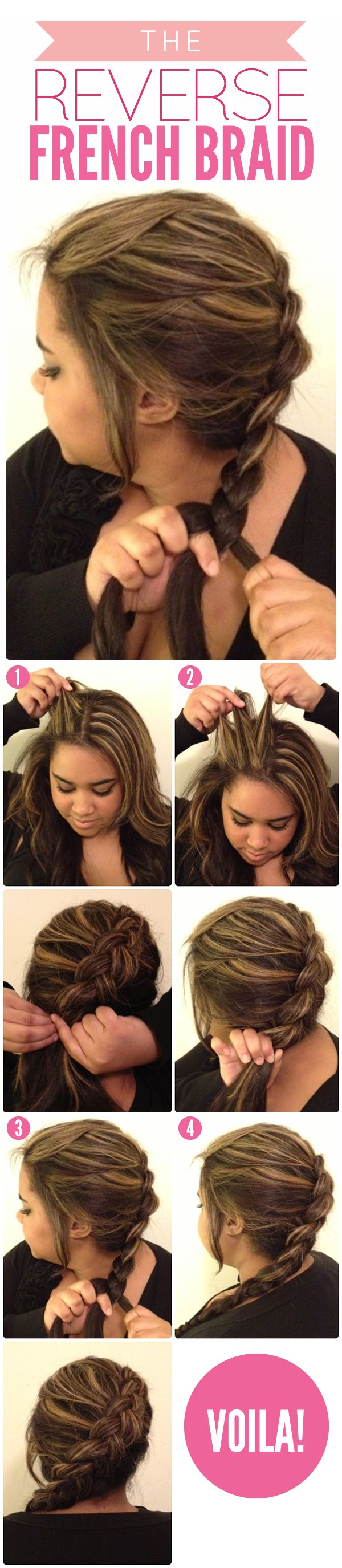 THE REVERSE FRENCH BRAID-Top 15 Easy-To-Make Braids Tutorials