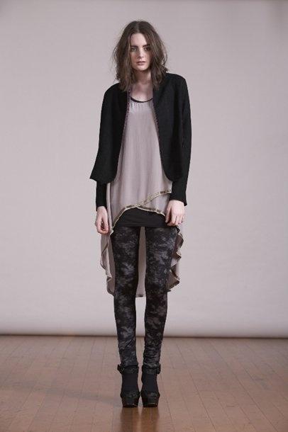 Kingan-Jones - Labyrinth Dress over Paramount Leggings and Penny Cape Jacket