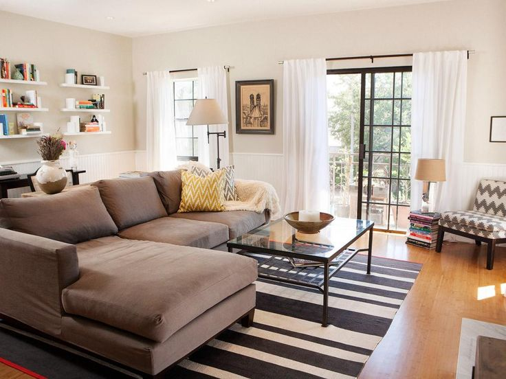 Shop This Look Airy Neutral Living Room Featuring L Shaped Couch