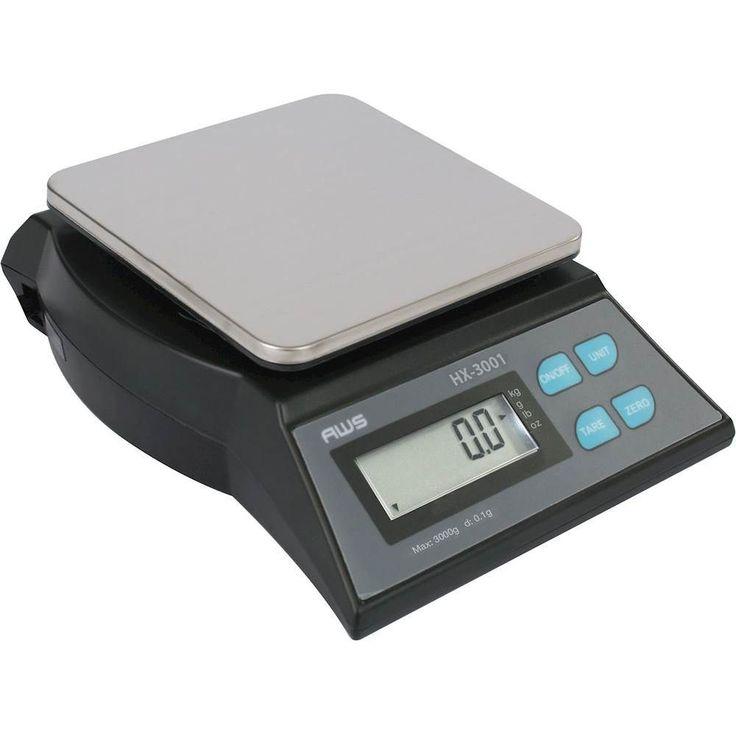 American Weigh Scales - HX-Series Digital Kitchen Scale - Black