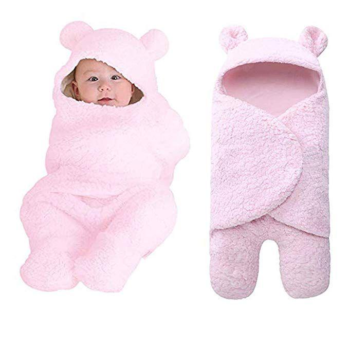 697e92a90 Newborn Baby Sleeping Bag Boys Girls Cute Cotton Plush Receiving ...