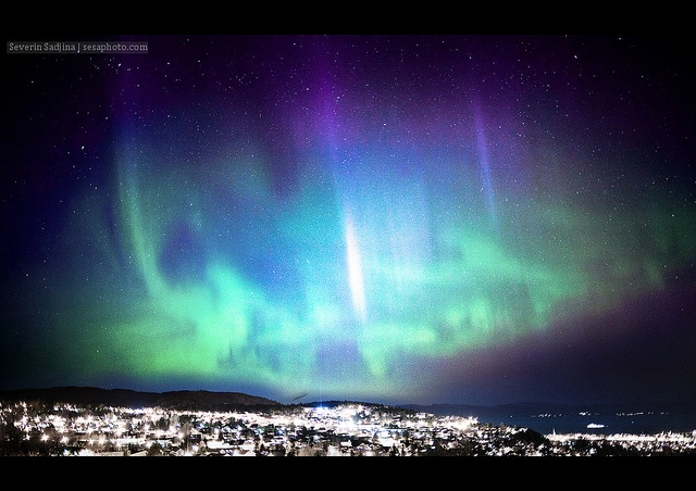 Northern Lights over Trondheim, Norway by Severin Sadjina, via Flickr    experience, breathtaking