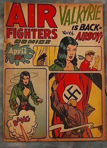 Ebay Item: Air Fighters Comics Vol. 2 #7 [19] (Apr 1944 Hillman) Airboy Valkyrie Nazi Flag