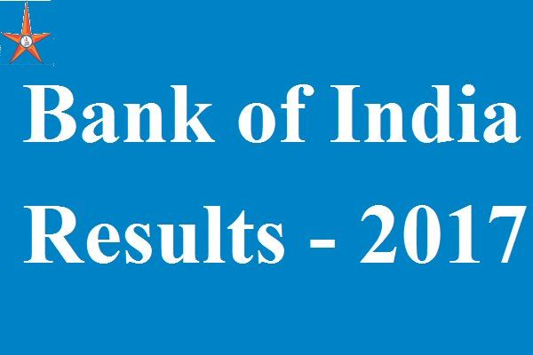 Bank of India Results 2017 is released. Download Bank of India JMGS-I/MMGS-II Merit List from the official web portal bankofindia.co.in