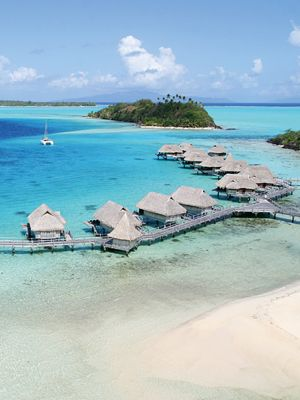 <p><strong>Why you'll love it:</strong> For a more intimate wedding, this resort has a spot that's tough to beat. Travel by boat to a private island, then climb up a set of winding stone stairs to a peak above the lagoon. The view is unforgettable, and the remoteness means you won't have any curious (but well-intentioned) resort guests playing paparazzi.<br><strong>More info:</strong> Sofitel.com</p>