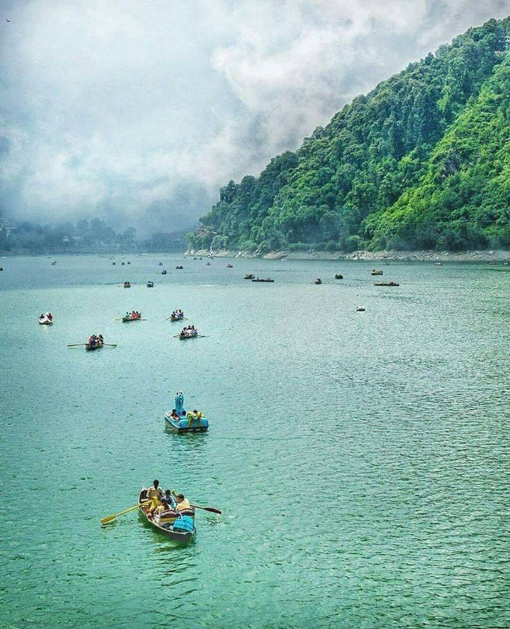 Boating at Nainital , India. #IncredibleIndia