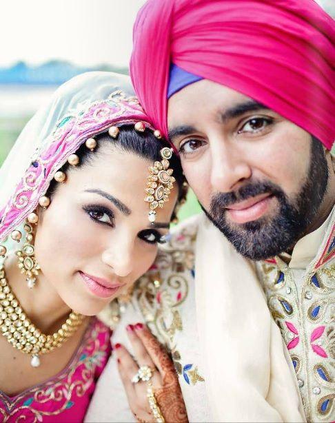 Punjabi Bride with her Groom