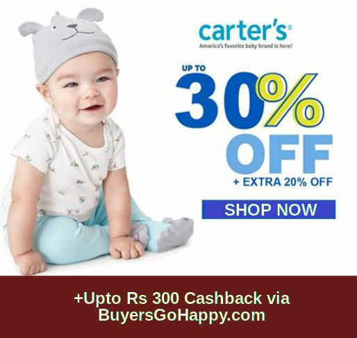 Get 30% Off on your Carter's on Babyoye +Upto Rs 300 Cashback via http://BuyersGoHappy.com  https://goo.gl/hHDj1z
