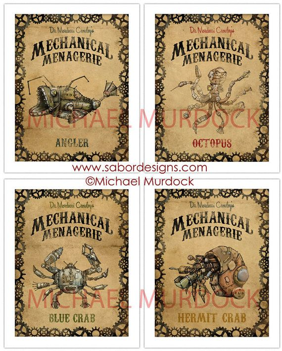 Dr. Mordecai Crowley's Mechanical Menagerie by Michael Murdock - etsy.com