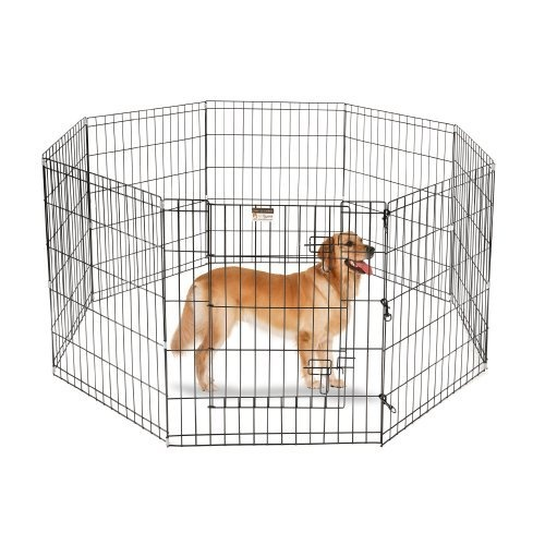 Pet Trex Premium Quality 30 Exercise Playpen for Dogs Eight 24 x 30 High Panels with Gate