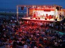 Santa Cruz, California-shown Boardwalk FREE Friday Night Concert 8-)