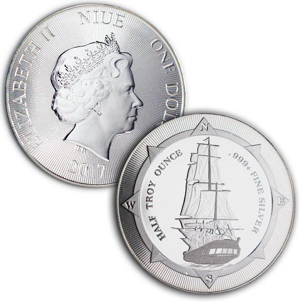 Buy The Original New Zealand Hms Bounty 1 2 Oz Silver Coin Money Metals Silver Coins Silver Coins Money Silver Bullion Coins