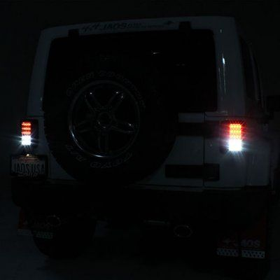 Jeep Wrangler JK 2007-2015 LED Tail Lights Smoked   A103IMB7109 - TopGearAutosport