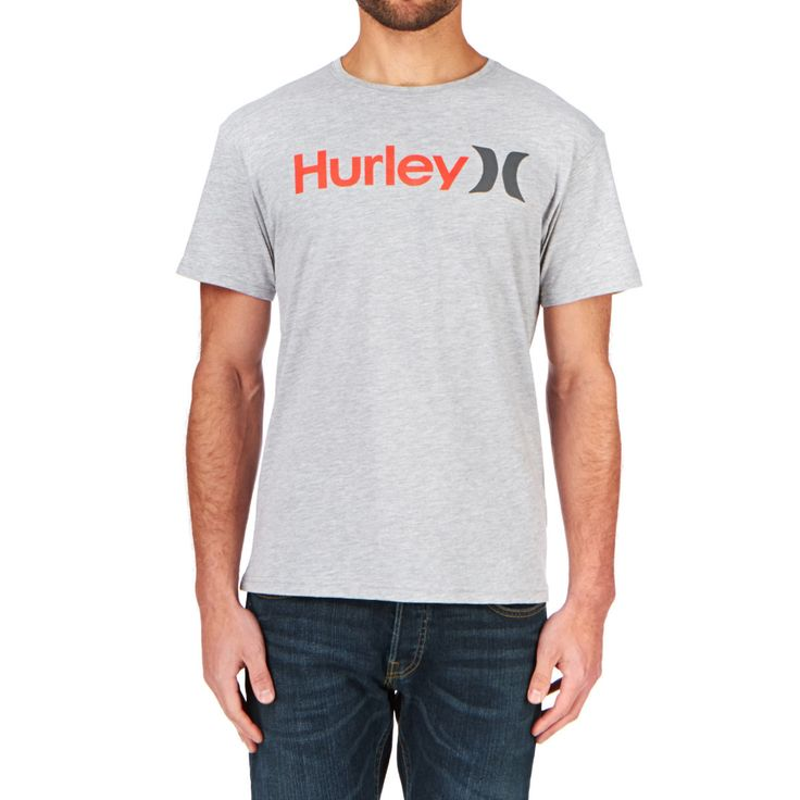 Hurley One & Only Seasonal T-shirt - Heather Grey | Free UK Delivery
