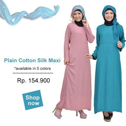 Plain Cotton Silk Maxi. Bahan: Katun Silky