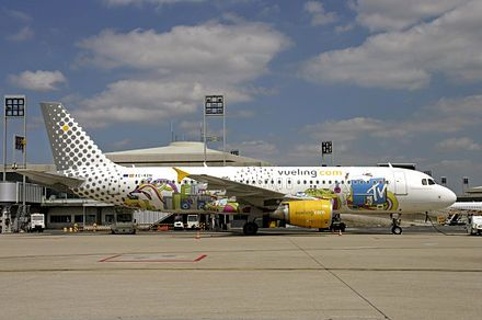 Vueling Airlines  is a Spanish low-cost airline headquartered at Barcelona–El Prat Airport. Its name comes from the Spanish word Vuelo, which means flight.