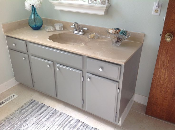 1974 builtin updated with Valspar Tabby Cat Gray