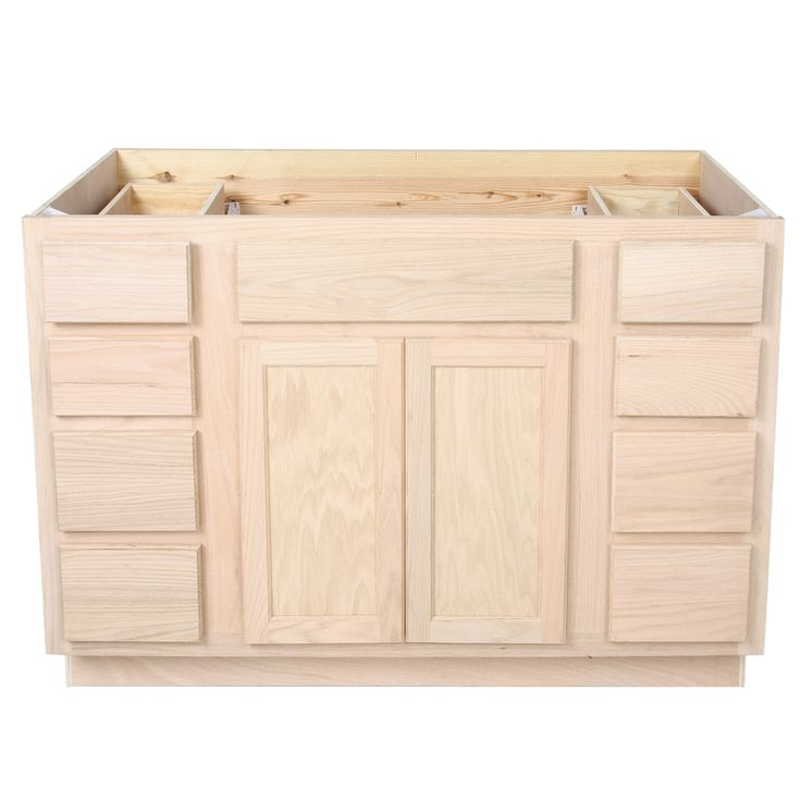Gallery One Bathroom Vanity Sink Base Unfinished Oak VANITIES UNFINISHED VANITIES Surplus Building Materials