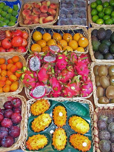 Exotic Fruits by tubblesnap, via Flickr    I want to try the odd ones.