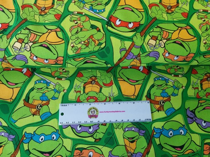 Funky Monkey Fabrics Inc. - TMNT Original - 1/2 yard, $5.00 (https://funkymonkeyfabrics.com/tmnt-original-1-2-yard/)