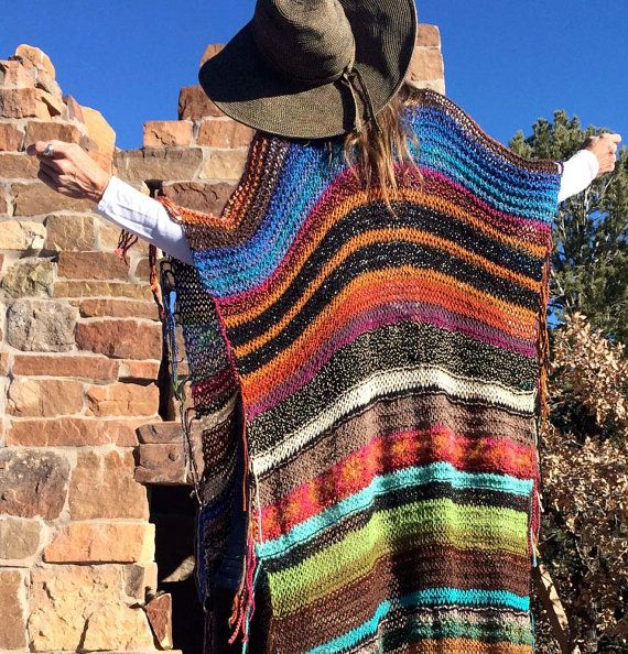 XTRA-LARGA Handknit Womens bohemio Festival Hippie por poshbygosh