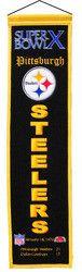 "Pittsburgh Steelers - Super Bowl 10 Wool Heritage Banner - 8""x32"""