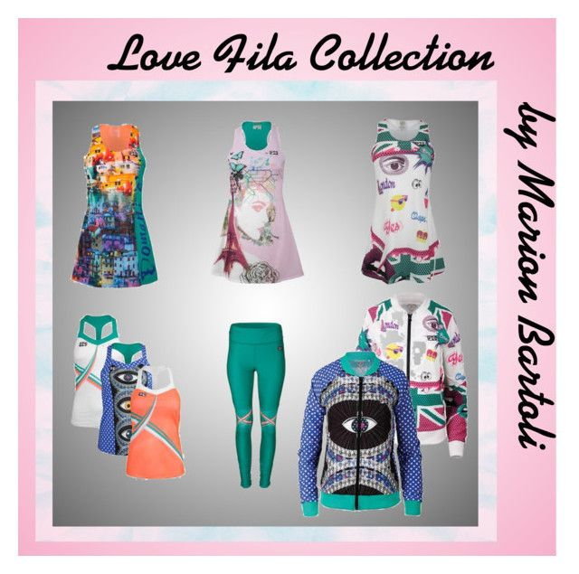 """Love Fila by Marion Bartoli"" by tennisexpress on Polyvore featuring tennis, fila, tennisfashion and tennisdress"