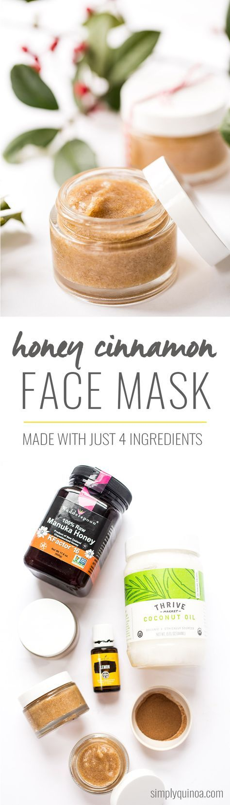 This DIY Honey Cinnamon Face Mask uses just four ingredients and is AMAZING! Smells so nice, is awesome for the skin and gives you a nice glow after you use it.