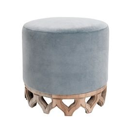 Raccan Ottoman  Transitional, Upholstery  Fabric, Stools, Ottomans  Pouf by James Duncan, Inc