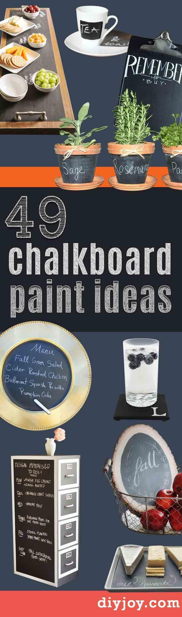 1000 ideas about chalkboard paint on pinterest diy for Chalkboard paint ideas for bedroom