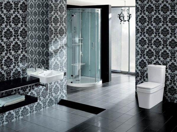 Die besten 25+ Tapete für Badezimmer Ideen auf Pinterest Halbe - tapeten badezimmer geeignet