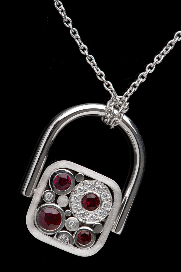 Ruby and diamond pendant /ring from our 'Carbonated' collection. #CaratsJewellery