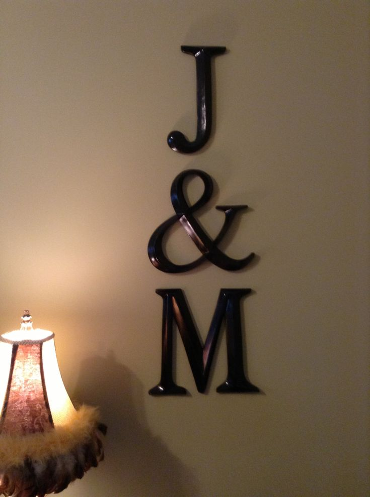 Wall Decor, Large Letter Decor,  Love that it's my girls initials