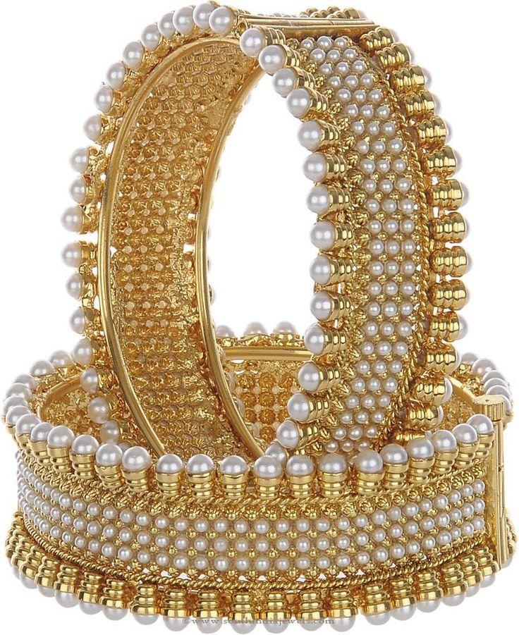 Pearl Imitation Bangle Desigsn, Imitation Pearl Bangle Designs, Pearl Bangles Online.