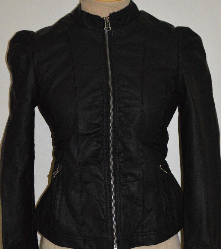 Ladies Rue 21 Black Faux Leather Jacket Coat Juniors Sizes Small, Large #rue21 #BasicJacket