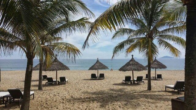 Wonderful beach at Boutique Hoi An resort