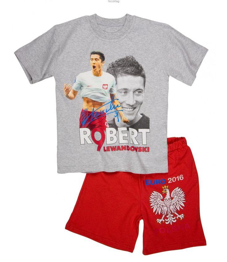 Piżama Lewandowski EURO s-chłopiec