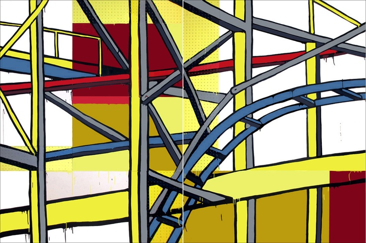 Diptych 200 x 300 cm by Jasper Knight now available from Thierry B. Fine Arts