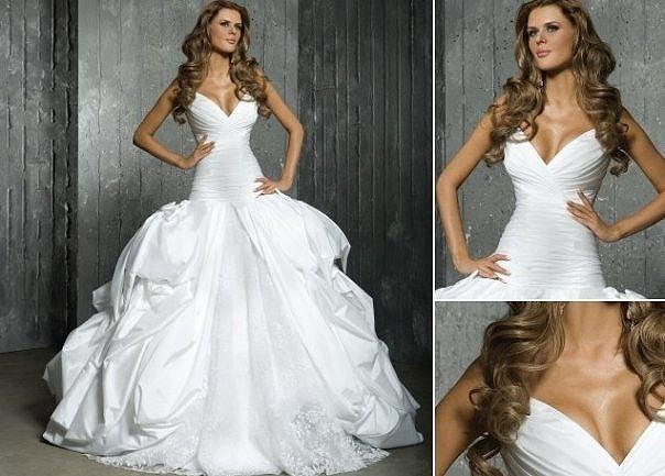 Кипить свадебное платье