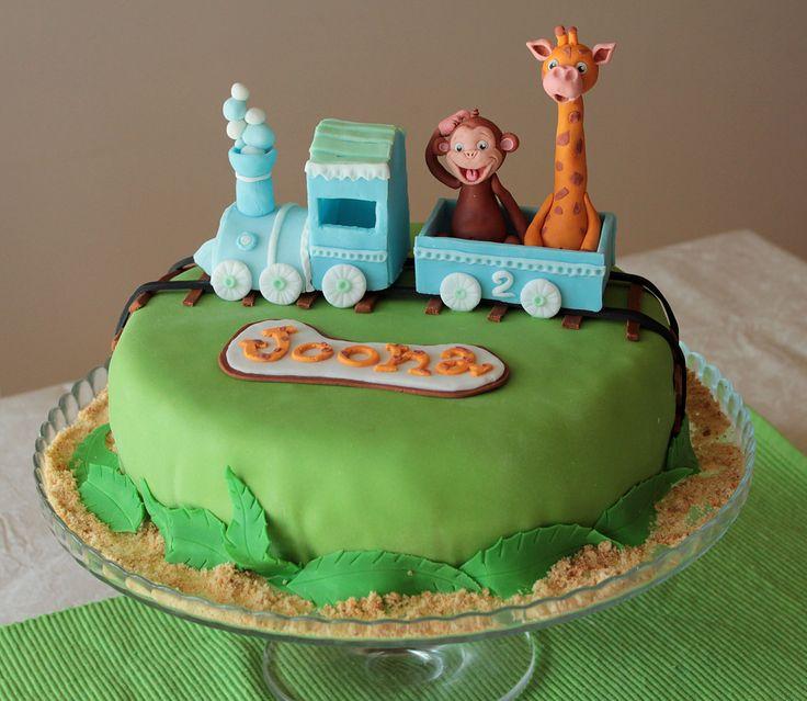 Handmade jungle cake for a birthday party - Pastellipäivä.
