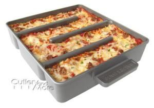 Make your lasagna in a deep dish for best flavor; here's a few pan options: Baker's Edge Smart Lasagna Pan