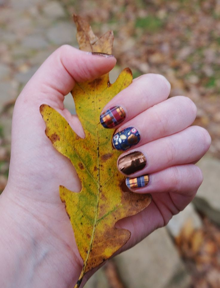 My own manicure-- Brisk Amber Jamberry wraps; love this fall style!  #nailart #shopping #nail #nails #nailsalons #naildesign #naildesigns #nailproducts #nailproductsupplier  #beautytrends #pamperyourself